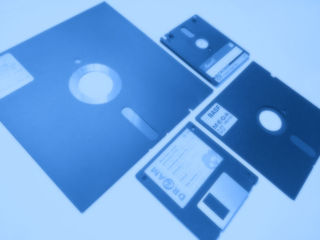 old floppy disks